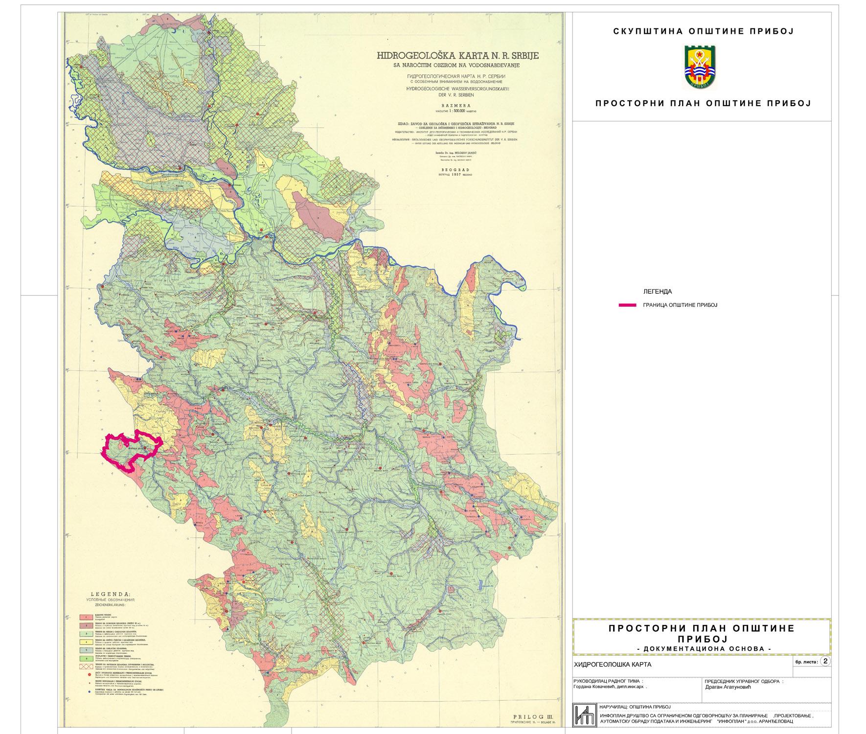 pedoloska karta srbije Urbanizam   Општина Прибој pedoloska karta srbije