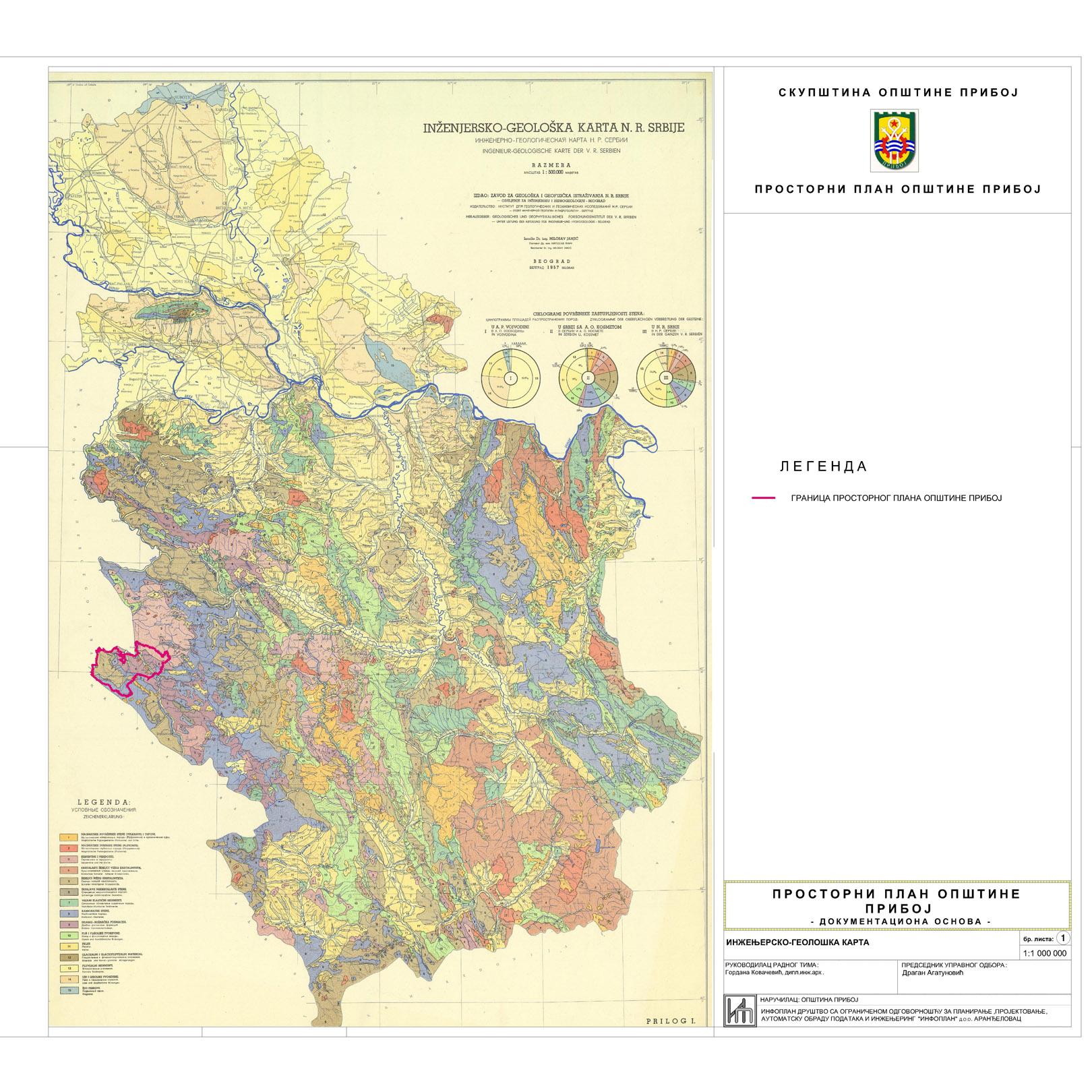 geoloska karta srbije Urbanizam   Општина Прибој geoloska karta srbije