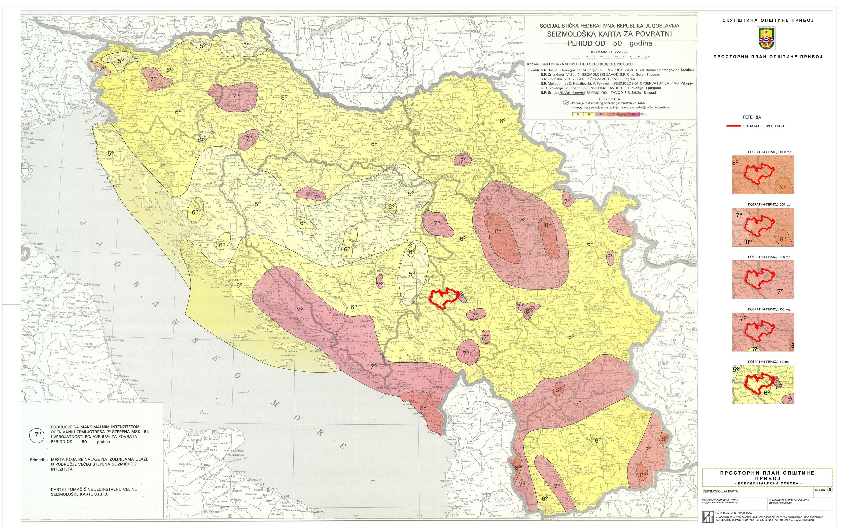 seizmološka karta srbije Urbanizam   Општина Прибој seizmološka karta srbije